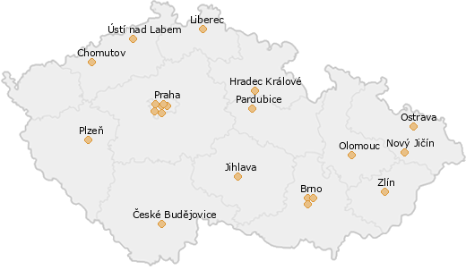 Map with institutions overview